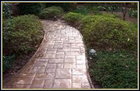 Stamped Rough Cut Ashlar Slate Walkway