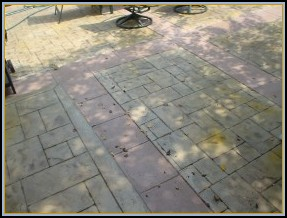 Stamped Ashler Slate with Borders