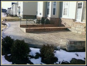 Stamped Ashler Slate Patio