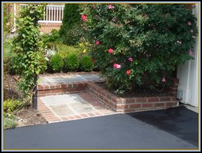 Flagstone and Brick Front