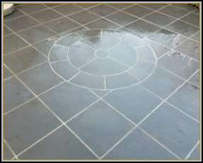 Flagstone Patio with Custom Circle