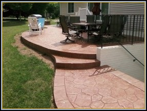 Stamped Random Stone Patio