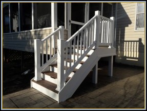 Landing and Stairs to Patio