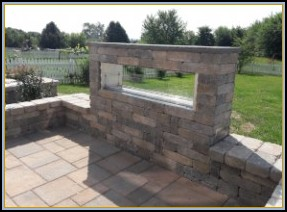 Paver Patio with Seating and Fire Feature