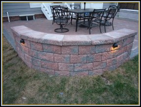 Paver Seating Wall Back View