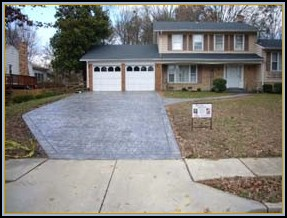 Stamped Cobblestone Driveway and Walkway