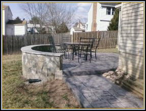 Stamped Ashler Patio and Wall