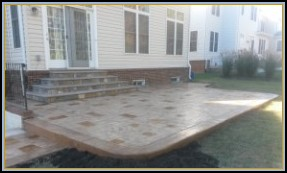 Stamped Ashler Patio and Flagstone Steps
