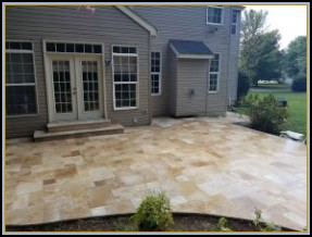 Travertine Patio and Step