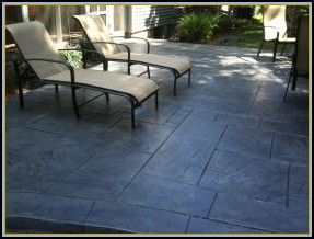 Stamped Flagstone Pool Patio